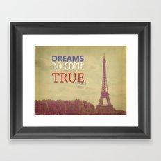 Dreams Do Come True Framed Art Print