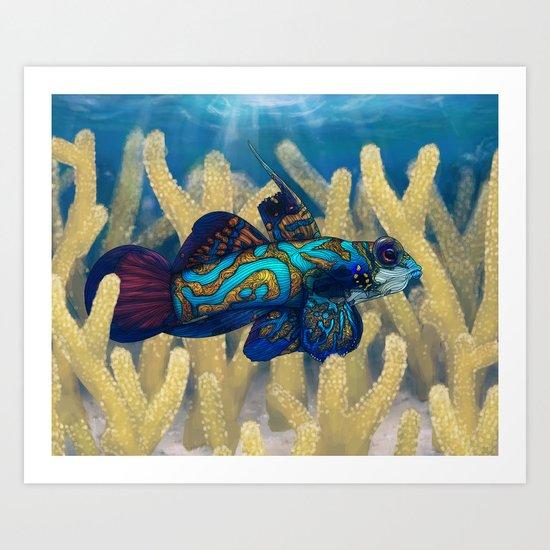 Mandarinfish Art Print