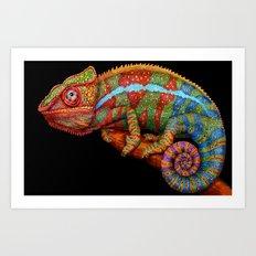 Chameleon 3 Art Print