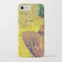 moth iPhone & iPod Cases featuring moth by Laura Moctezuma