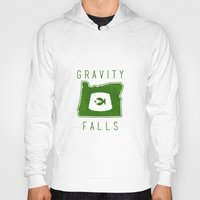 fez Hoodies featuring Gravity Falls - Grunkle Stan's Fez (White) by pondlifeforme