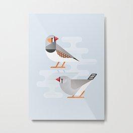 Australian Zebra Finch (cln) Metal Print