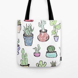 Plants and Cacti Tote Bag