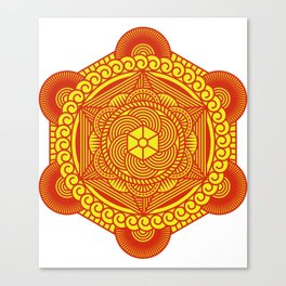 SACRED GEOMETRY METATRONS CUBE Gift For Yoga Lover Canvas Print