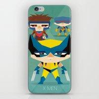 x men iPhone & iPod Skins featuring X Men fan art by danvinci