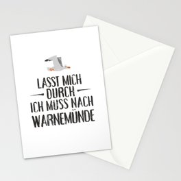 Lasst mich durch ich muss nach Warnemünde Möwe Stationery Cards