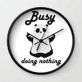 Busy panda Wall Clock