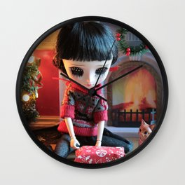 Weekend to wrap Christmas presents Wall Clock