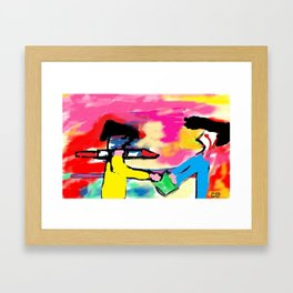 The threat Framed Art Print