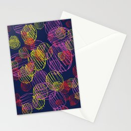pencil circles Stationery Cards