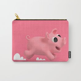 Rosa the Pig running Carry-All Pouch
