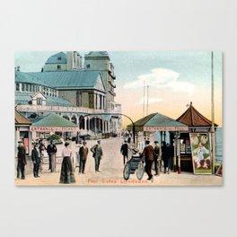 Pier Gates Llandudno Wales 1890 Canvas Print