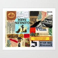 By air mail Art Print