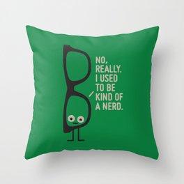 Nerd Is the New Black Throw Pillow