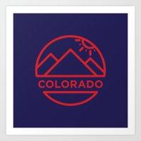 colorado Art Prints featuring Colorado by BMaw