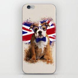 English Bulldog Puppy in Glasses iPhone Skin