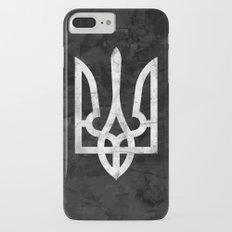 Ukraine Black Grunge iPhone 7 Plus Slim Case