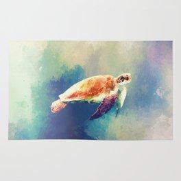 Sea Turtle Painting Rug