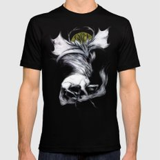 A Forest's Grace LARGE Black Mens Fitted Tee