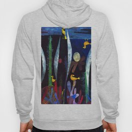 Paul Klee Landscape with Yellow Birds Hoody