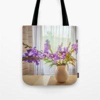 iris Tote Bags featuring Iris by Svetlana Korneliuk