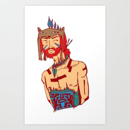 Tribal Man Art Print