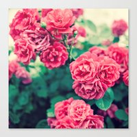 flora Canvas Prints featuring Flora by Laura Ruth