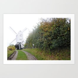 Jack and Jill Windmill at the end of the lain Art Print