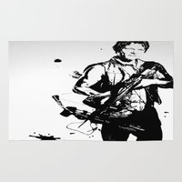 daryl Area & Throw Rugs featuring Daryl Dixon by Black And White Store
