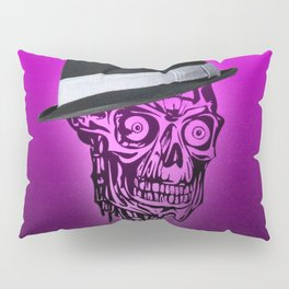 Elegant Skull with hat,hot pink Pillow Sham