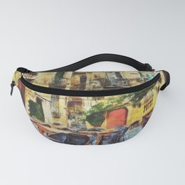Vintage streets in Calabria Tropea Fanny Pack