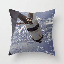 Apollo 7 - Saturn V over Cape Canaveral Throw Pillow