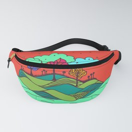 Tropical illustration colorful Fanny Pack
