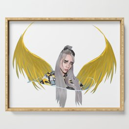 Billie Eilish Artwork With Wings Serving Tray