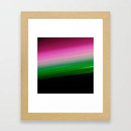Pink Green Ombre Framed Art Print