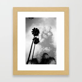 Twin Palms Framed Art Print