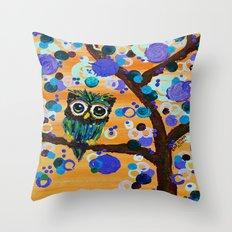 :: Sunset Gemmy Owl :: Throw Pillow