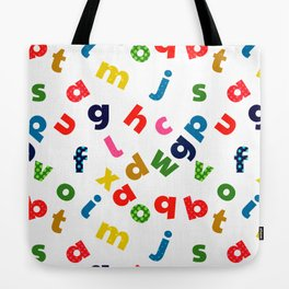 colourful alphabet Tote Bag