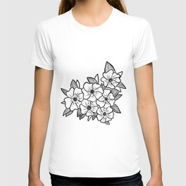 Inked flowers T-shirt