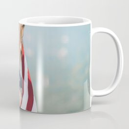 Girl in american flag Coffee Mug