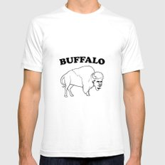 Buffalo Black SMALL White Mens Fitted Tee
