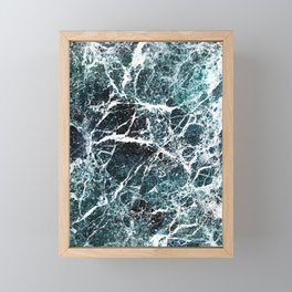 Green marble abstract Framed Mini Art Print