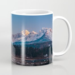 Sun goes down on Mangart, Italian alps Coffee Mug