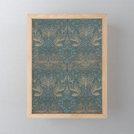 William Morris - Printed Textile Pattern - Peacock and Dragon (1878) Framed Mini Art Print