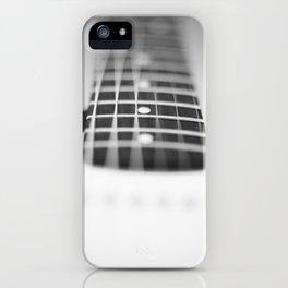Guitar macro monochrome iPhone Case