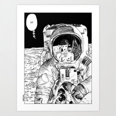 asc 333 - La rencontre rapprochée ( The close encounter) Art Print