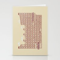 the neighbourhood Stationery Cards featuring Periodic Neighbourhood by Salih Gonenli