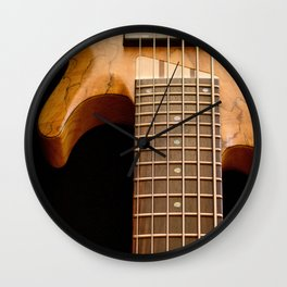 Music is a Moral Law ~ Bass Guitar Wall Clock