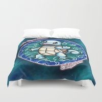 squirtle Duvet Covers featuring 7 - Squirtle by Lyxy