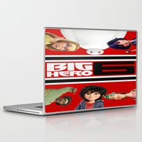 big hero 6 Laptop & iPad Skins featuring BIG HERO 6, FILMS,MOVIE by ira gora
